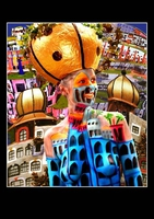 "Bodypainting (Digital Art) ""The Art of Hundertwasser"""